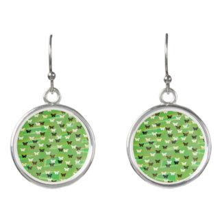 Grüne Schmetterlings-Ohrringe Ohrringe