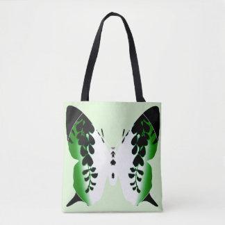 Grüne Schmetterlingwisteria-Silhouette-Tasche Tasche