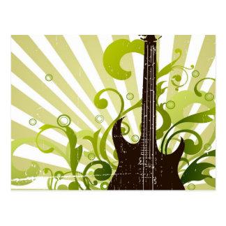 Grüne Schmutz-Gitarre Postkarte
