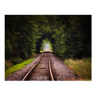 Grüne schöne Bahnlandschaft Postkarte