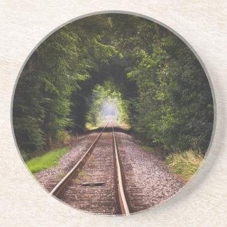 Grüne schöne Bahnlandschaft Sandstein Untersetzer