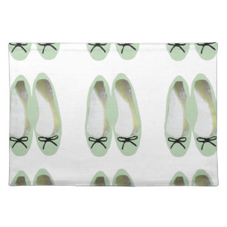 Grüne Schuhe Tischset