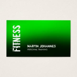 Grüne schwarze Fitness-persönliche Visitenkarten