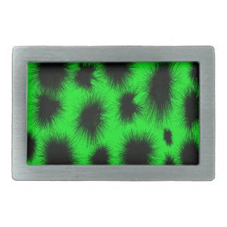Grüne schwarze Spitzen-Rechteck-Neonschnalle Rechteckige Gürtelschnalle