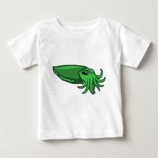 Grüne Schwimmen-Kopffüßer Baby T-shirt
