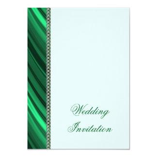 Grüne silberne Kette 11,4 X 15,9 Cm Einladungskarte
