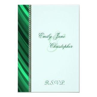 Grüne silberne Kette 8,9 X 12,7 Cm Einladungskarte