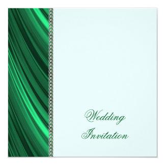 Grüne silberne Kette Quadratische 13,3 Cm Einladungskarte