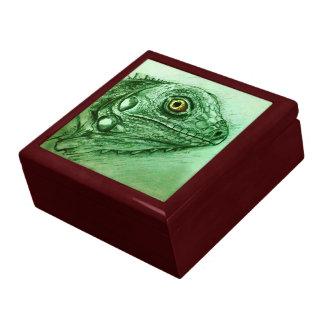 Grüne Skizzefliesen-Geschenkboxen - Leguan Erinnerungskiste
