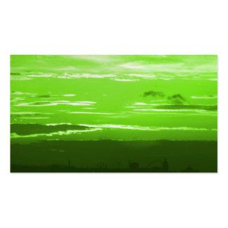Grüne Sonnenuntergang-Visitenkarten Visitenkarten