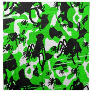 Grüne Spinnen-Camouflage Serviette