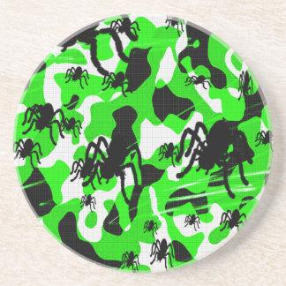 Grüne Spinnen-Camouflage Untersetzer