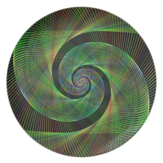 Grüne Spirale Teller