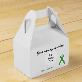 Grüne Standardband-Schablone Geschenkschachtel