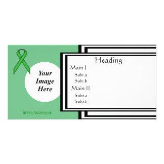 Grüne Standardband-Schablone Karte