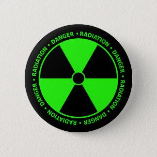 Grüne Strahlungs-Warnung Runder Button 5,1 Cm