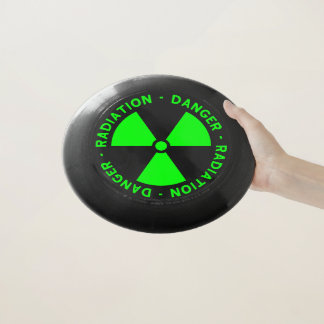 Grüne Strahlungs-Warnzeichen Wham-O Frisbee