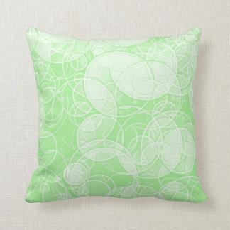 Grüne Szene - Kreis-Muster-kundenspezifisches Kissen