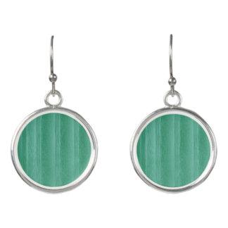 Grüne tadellose Kreis-Tropfen-Ohrringe Ohrringe