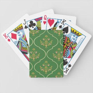 Grüne Tapisserie Bicycle Spielkarten