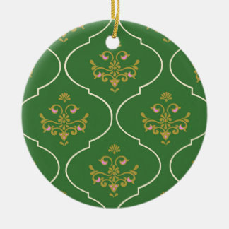 Grüne Tapisserie Keramik Ornament
