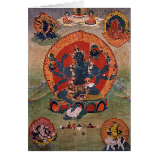 Grüne Tara-Buddhist-Gottheit Karte