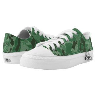 Grüne Tarnung. Ihre Camouflage Niedrig-geschnittene Sneaker
