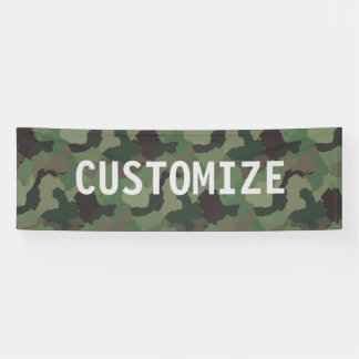 Grüne Tarnung Militär-USA-Service-Party-Fahne Banner