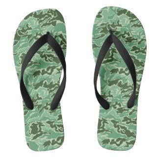 Grüne Tarnungs-Camouflage Flip Flops