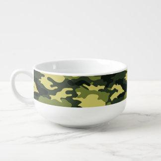 Grüne Tarnungs-Muster-Suppen-Tasse Große Suppentasse