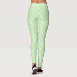 Grüne Tartan-Pastellgamaschen Leggings