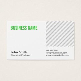 Grüne Titel-Chemieingenieur-Visitenkarte Visitenkarte