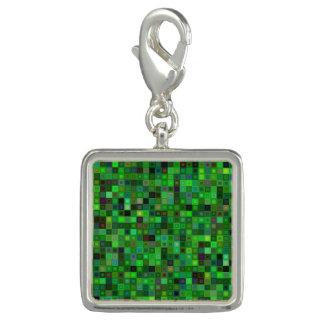 Grüne Tonquadrate Foto Charm
