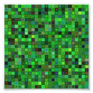 Grüne Tonquadrate Fotodruck