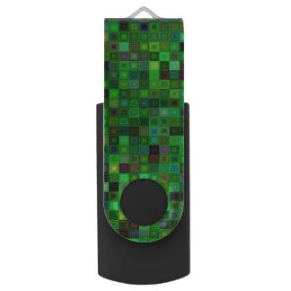 Grüne Tonquadrate USB Stick