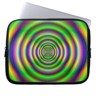 Grüne Torus-Tunnel-Laptop-Hülse Laptopschutzhülle