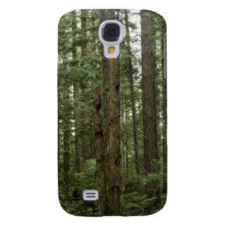 Grüne Totem-Baum-Waldnatur-Szene Galaxy S4 Hülle