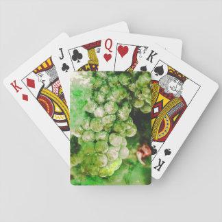 Grüne Trauben benutzt, um Wein zu machen Spielkarten