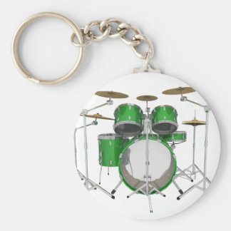 Grüne Trommel-Ausrüstung: Standard Runder Schlüsselanhänger