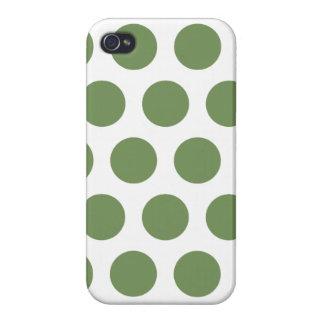 Grüne Tupfen Etui Fürs iPhone 4