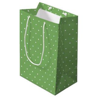 Grüne Tupfen-Geschenk-Tasche Mittlere Geschenktüte