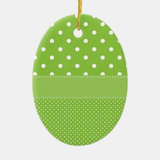 Grüne Tupfen Keramik Ornament