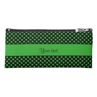 Grüne Tupfen Stiftetasche