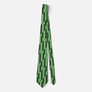 Grüne u. gelbe karierte Rohre Krawatte