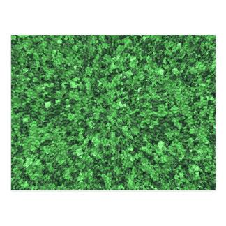 Grüne Umwelt-Ursachen-Schablone addieren txt img Postkarten