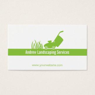 Grüne unbedeutende landschaftlich visitenkarte