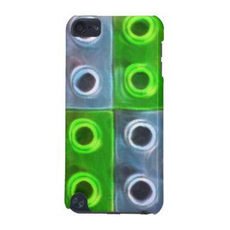 Grüne und blaue Gebäude-Blöcke iPod Touch 5G Hülle