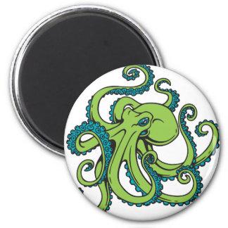 Grüne und blaue Krake Magnets