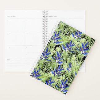 Grüne und blaue tropische Pflanzen Planer