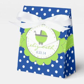 Grüne und blaue Tupfen-Babyparty Geschenkkarton